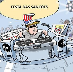 DJ sanções: tocando a pior música da balada