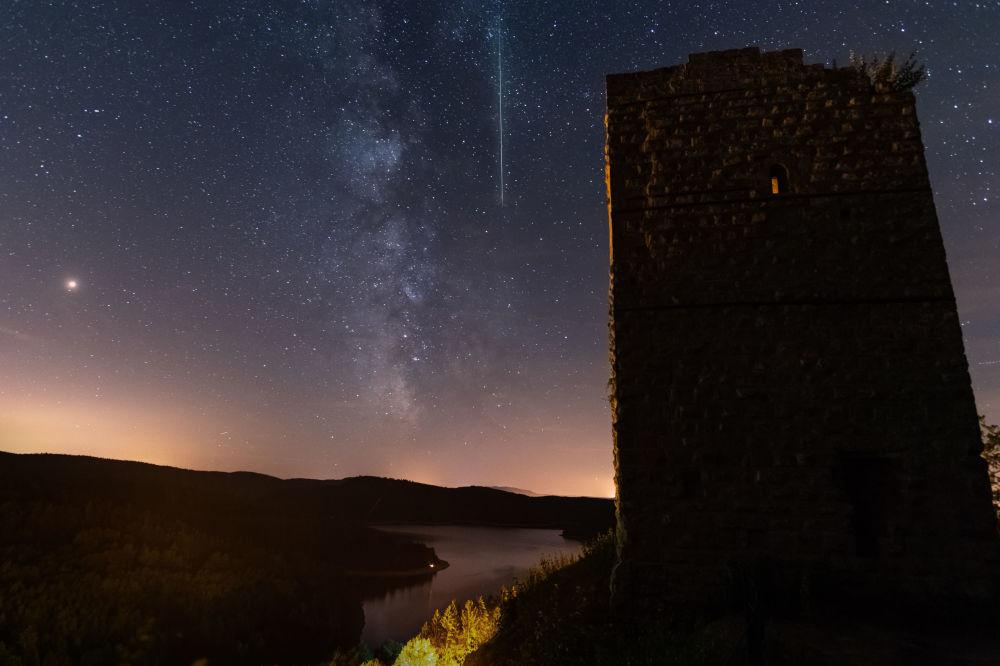 Chuva anual de meteoros vista a partir do leste da França