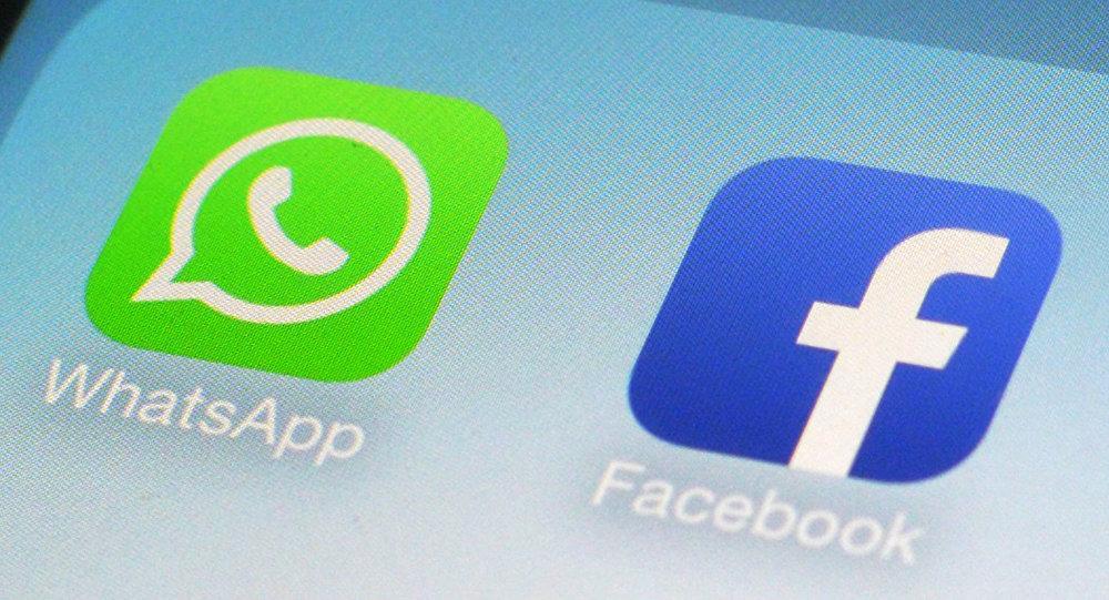 Logotipos do WhatsApp e Facebook
