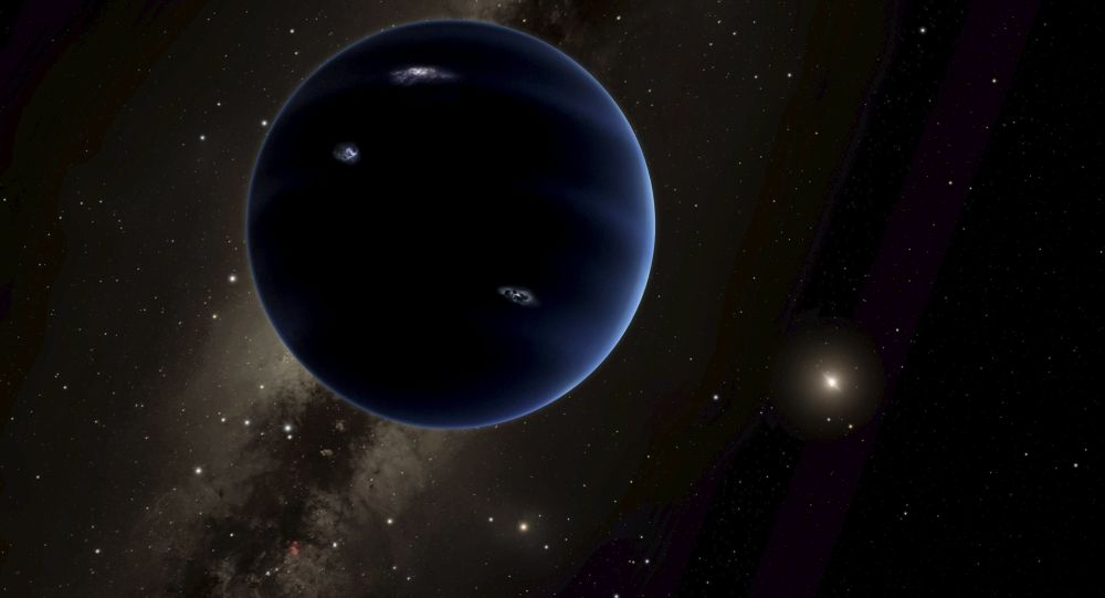 Visão artística do Planeta Nove que pode estar a orbitar no Sistema Solar exterior