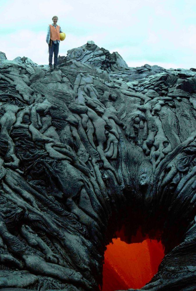 Portal ao Inferno, ou fluxos de lava solidificados em forma misteriosa, no Havaí