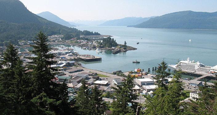 Vista de Wrangell, Alasca