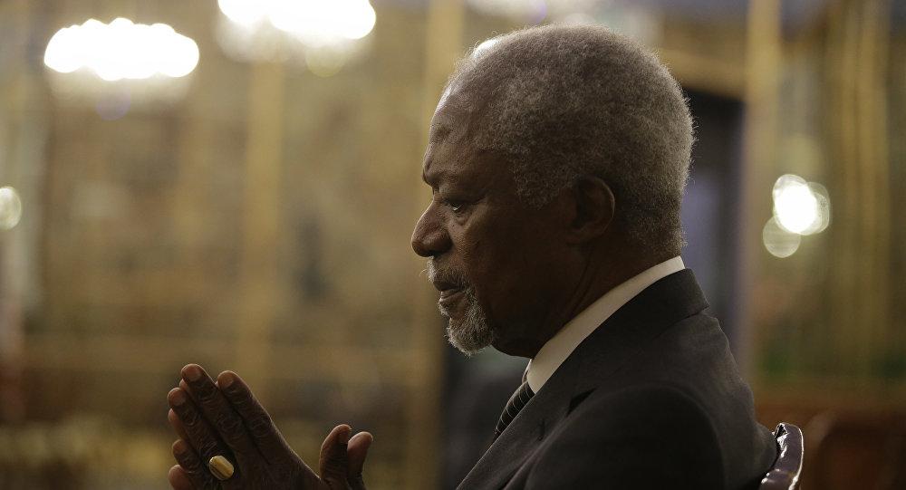 Kofi Annan em entrevista de 2017.