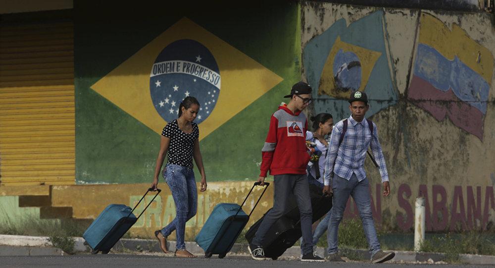 Migrantes venezuelanos no estado brasileiro de Roraima, Brasil