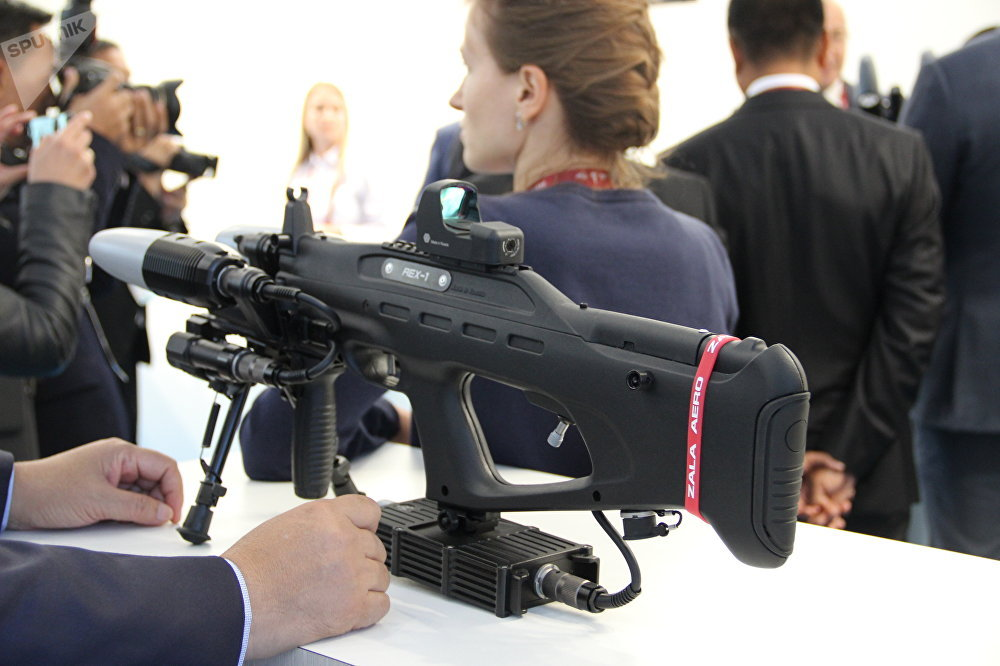 Arma anti-drone do consórcio Kalashnikov é mostrada durante o fórum militar EXÉRCITO 2018