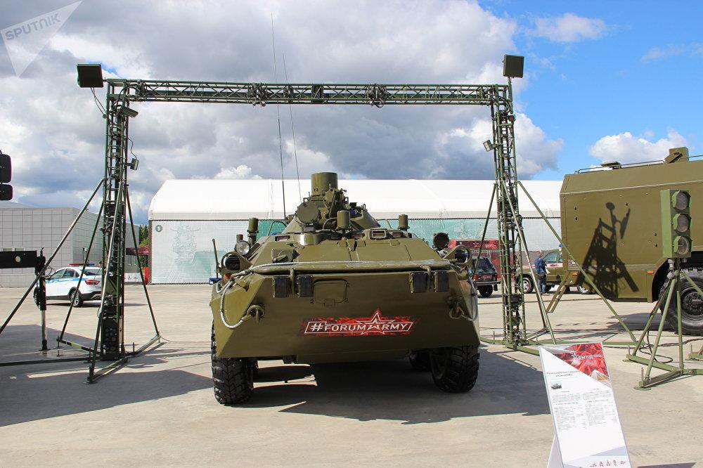 Veículo de deteção de radiação RPM-2 é mostrado durante o fórum militar EXÉRCITO 2018