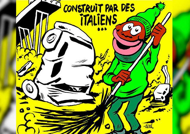 Charge sobre queda de ponte em Gênova gerou revolta na Itália