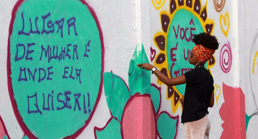 Imagem em Salvador do projeto Mais Grafite, da Secretaria de Justiça, Direitos Humanos e Desenvolvimento Social do Estado da Bahia (arquivo)