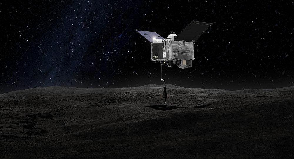 OSIRIS-REx retira uma amostra