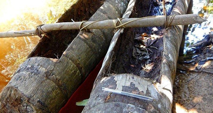 Canoa indígena é encontrada em expedição da Funai
