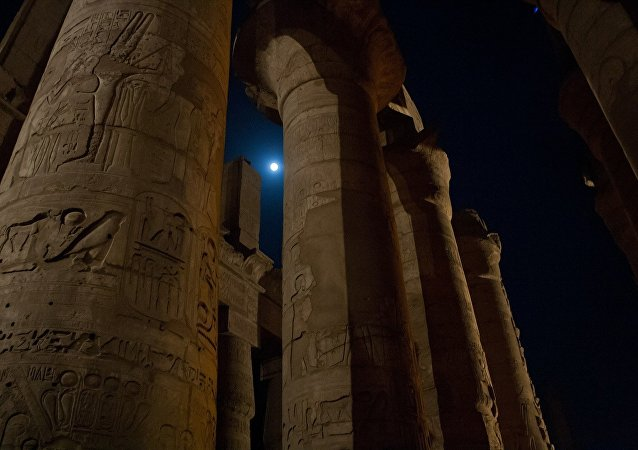 Colunas antigas no Egito