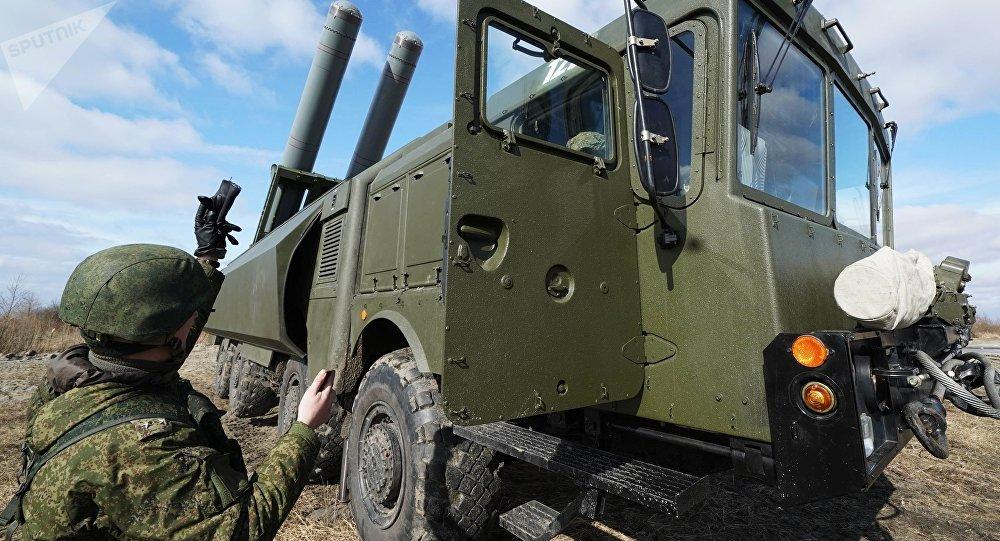 Exercícios das unidades de defesa costeira da Frota do Mar Báltico com sistemas Bastion (arquivo)