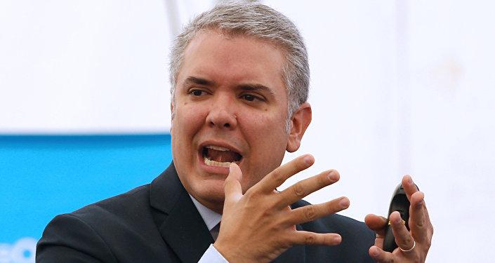Iván Duque, presidente da Colômbia.