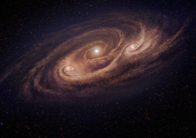 Imagem ilustrativa da galáxia COSMOS-AzTEC- 1