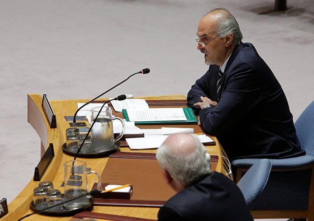 Embaixador da Síria na ONU Bashar al-Jaafari.