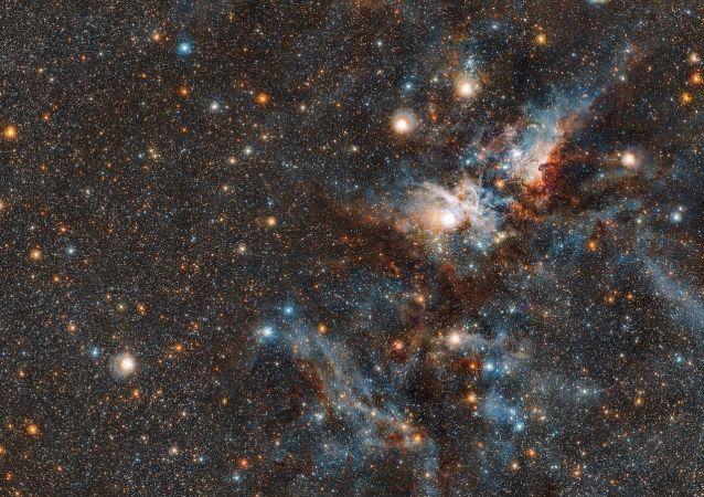 Imagem da Nebulosa Carina captada com o telescópio VISTA do Observatório Europeu do Sul (ESO)
