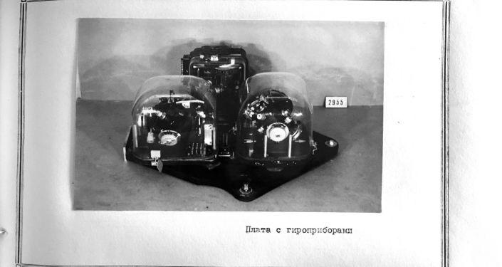 Foto dos elementos do sistema autônomo de controle do míssil R-1