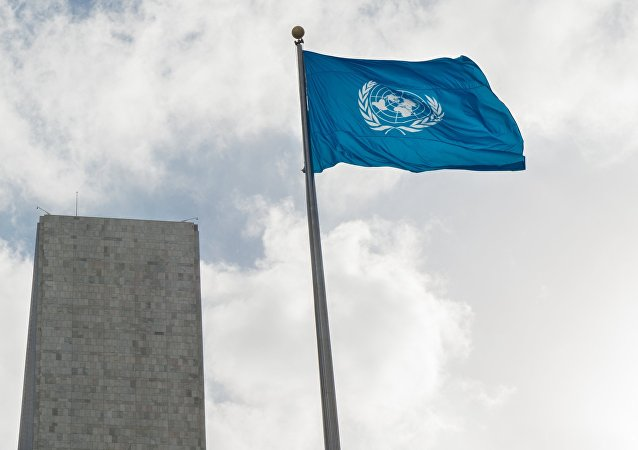 A bandeira da ONU