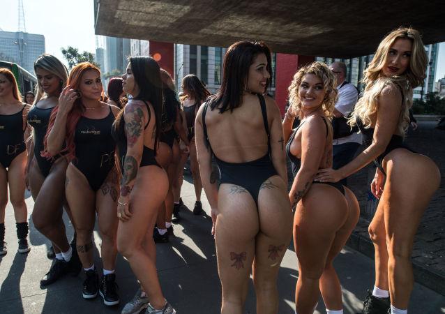 Brasileiras durante competição Miss Bumbum