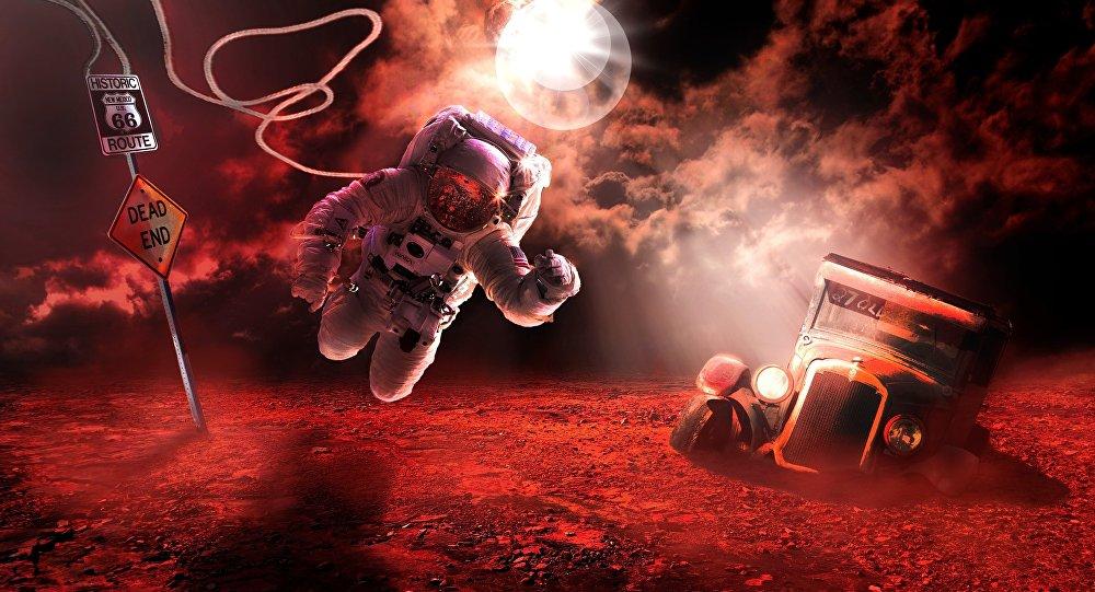 Astronauta no espaço aberto (imagem referencial)