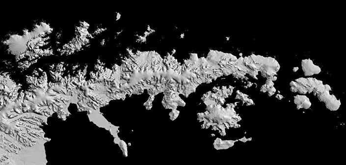 Mapa da Antártida