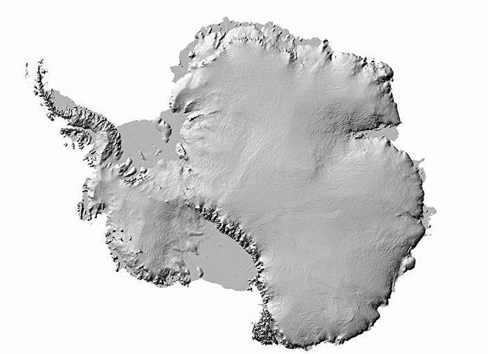 O novo mapa mais preciso da Antártida