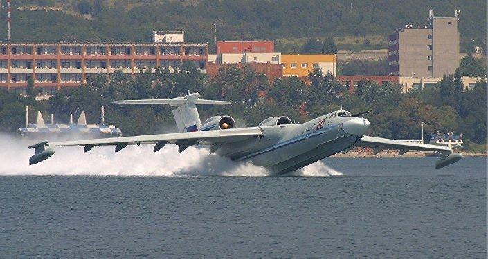 Avião anfíbio russo A-40
