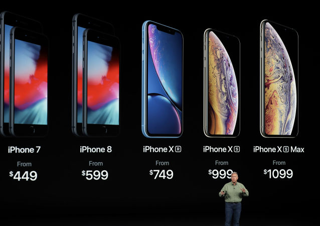O vice-presidente de marketing da Apple, Phil Schiller, fala sobre os novos Apple iPhone XS, iPhone XS Max e iPhone Xr no teatro Steve Jobs durante o lançamento dos novos produtos da Apple, 12 de setembro