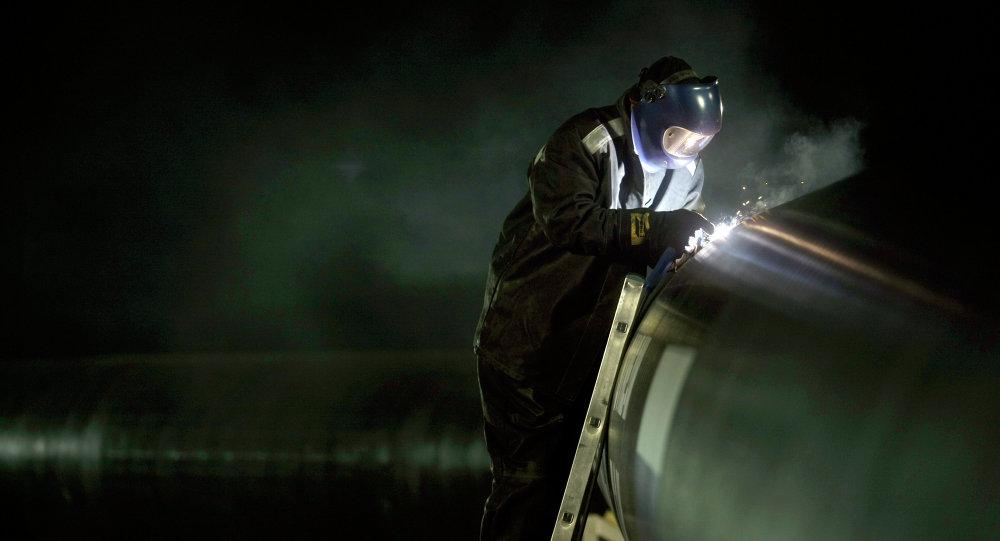 Construção de gasoduto