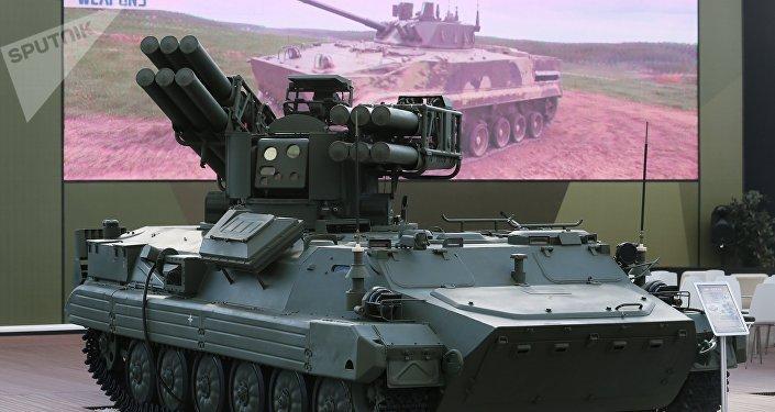 Sistema de mísseis antiaéreos russo Sosna no âmbito do Fórum Internacional Técnico-Militar EXÉRCITO 2018
