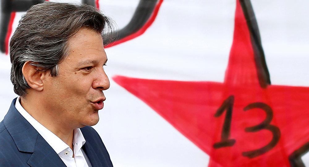 Fernando Haddad, ex-prefeito de São Paulo e candidato à presidência do Brasil pelo PT