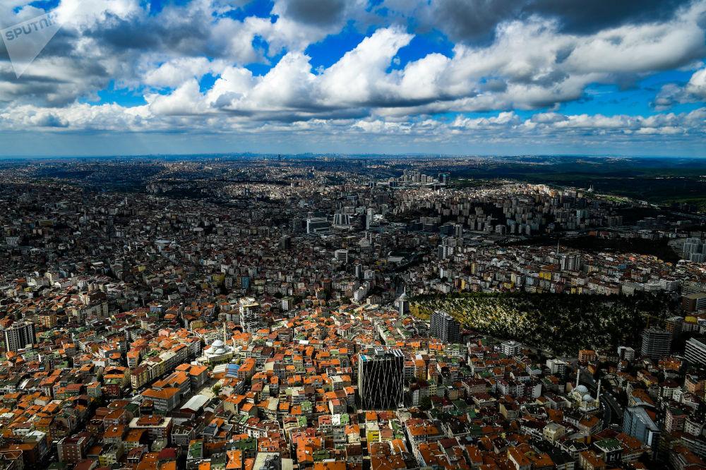 Vista aérea da cidade de Istambul, na Turquia