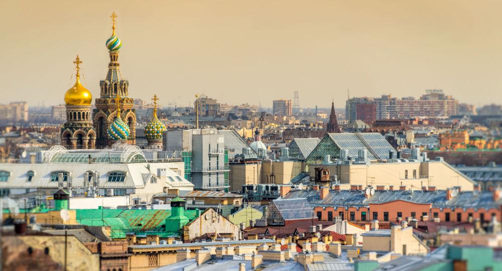 Catedral de Santo Isaac e vista geral de São Petersburgo