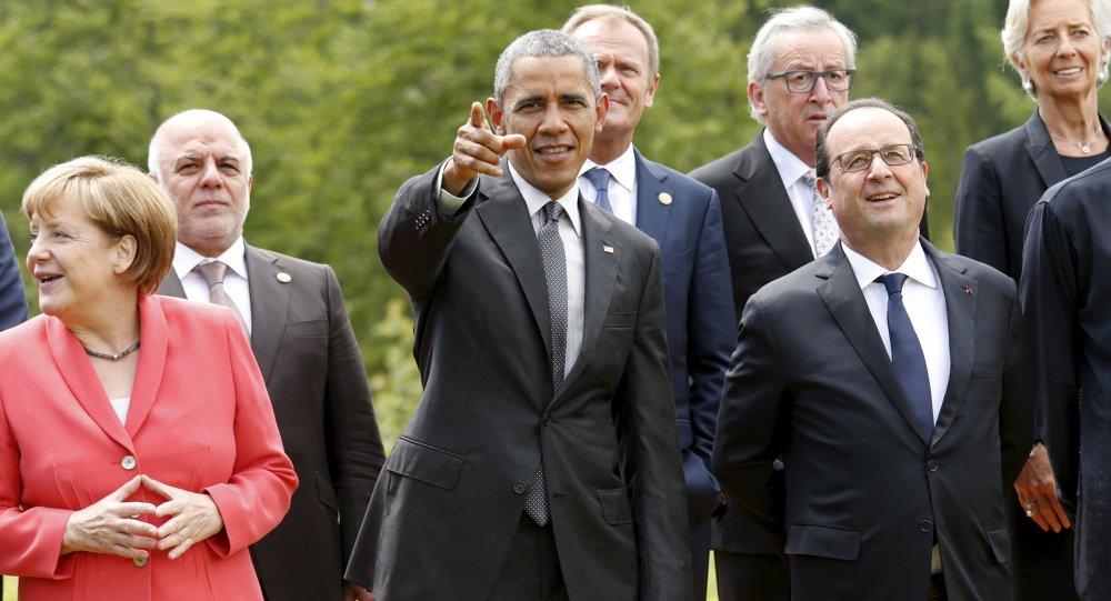 Reunião de cúpula do G7 na cidade de Kruen, Alemanha, 8 de junho, 2015.