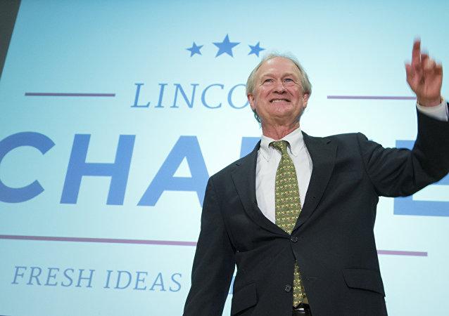 Ex-governador de Rhode Island e candidato à presidência dos EUA em 2016 Lincoln Chafee