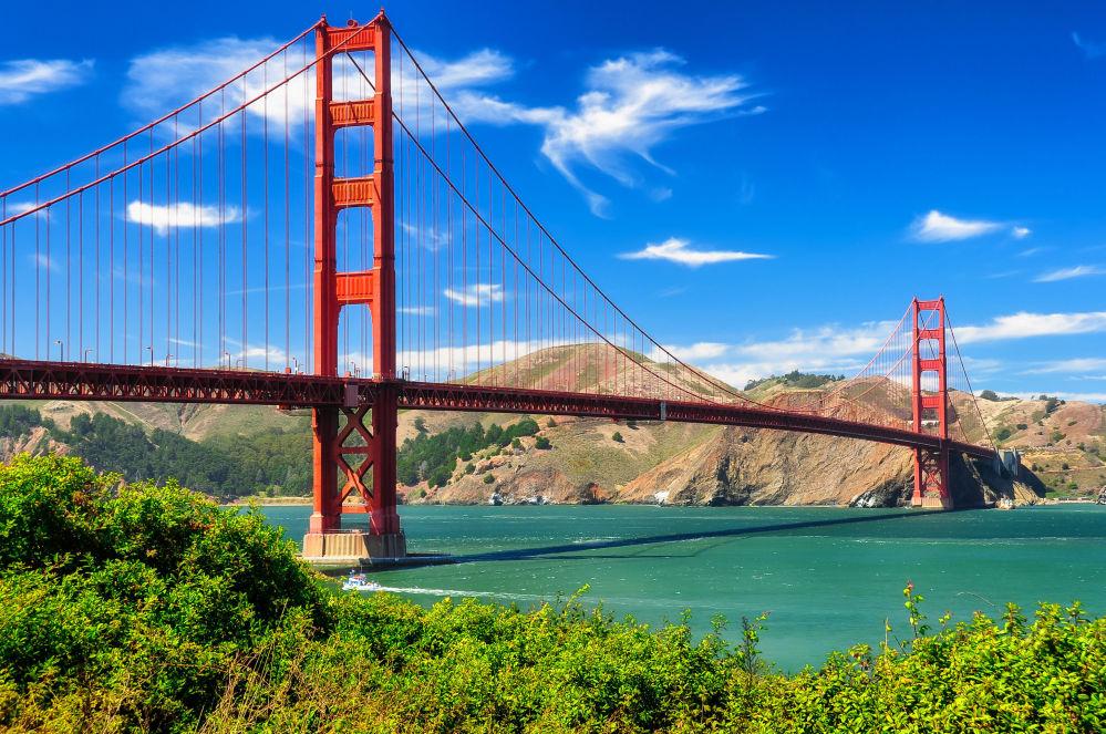 A ponte Golden Gate em São Francisco, EUA
