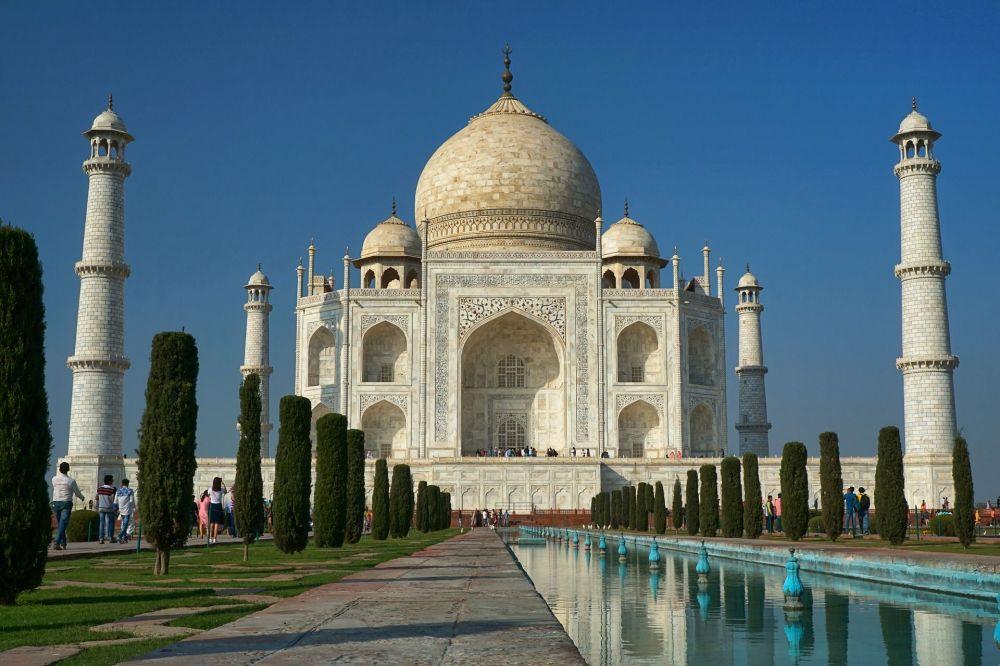 O mausoléu Taj Mahal na Índia