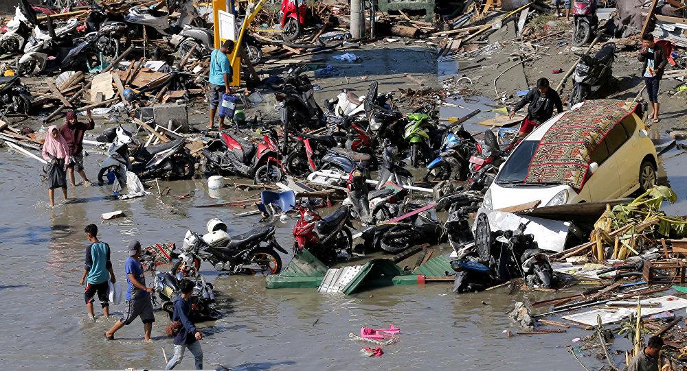 Danos causados pelos terremotos e tsunami em Palu, na Indonésia, em 30 de setembro de 2018