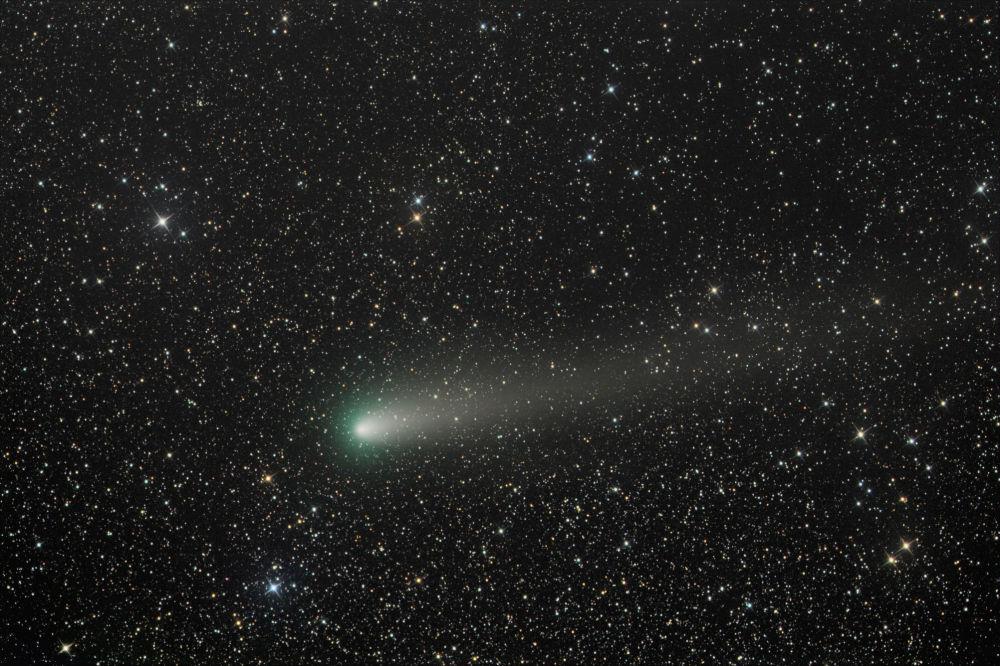 Cometa 21P gravado no momento exato de sua aproximação máxima do Sol nos últimos 72 anos
