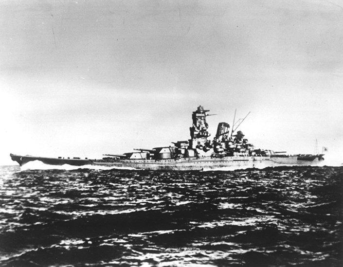 Imagem apresenta navio de guerra japonês Yamato