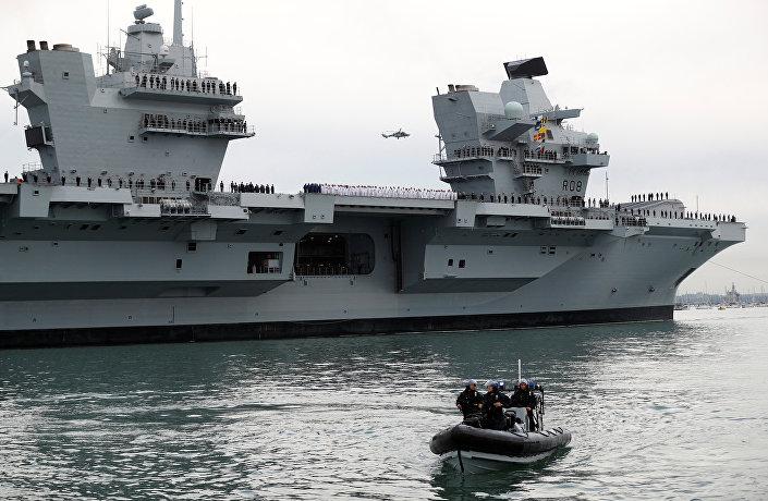 Porta-aviões da Marinha Real Britânica HMS Queen Elizabeth