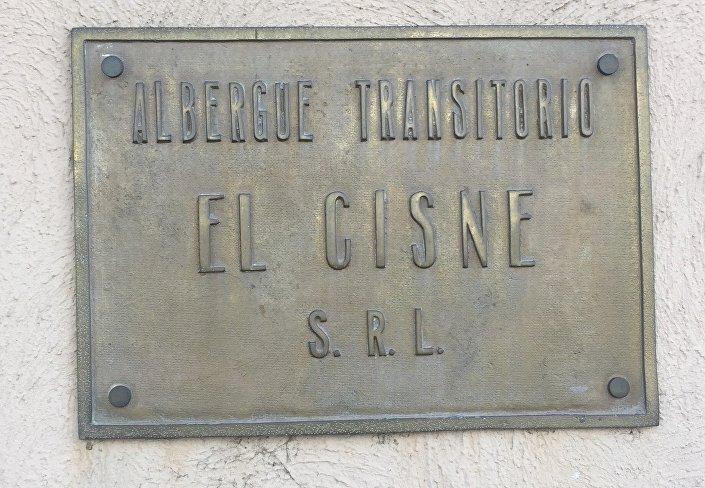 Placa de Albergue Transitório em Buenos Aires, na Argentina