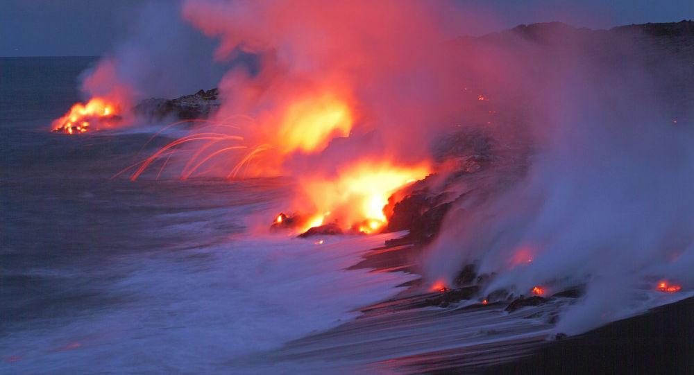 Vulcão Kilauea no Parque Nacional dos Vulcões, no Hawaii