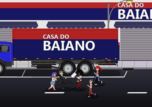 Em Bolsomito 2K18 o jogador pontua ao agredir negros, homossexuais e ativistas de esquerda