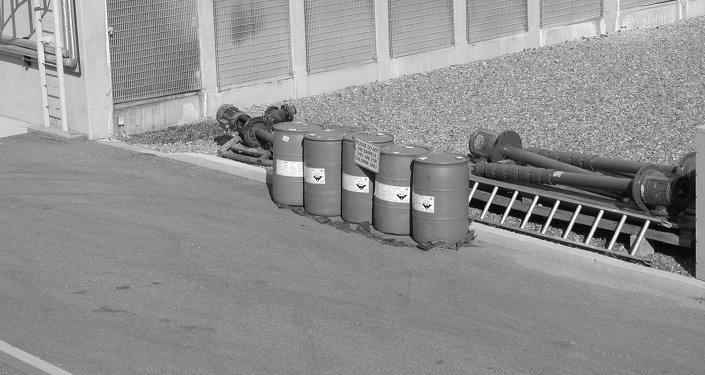 Barris com cloro (imagem ilustrativa)