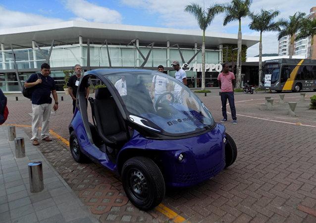 1º Encontro Brasileiro de Entusiastas de Carros Elétricos, em Palhoça, Santa Catarina (arquivo)