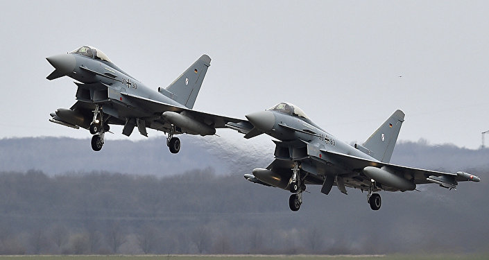 Caças da Força Aérea da Alemanha Eurofighter
