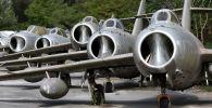 Caças MiG-15 na base aérea de Kucove, Albânia