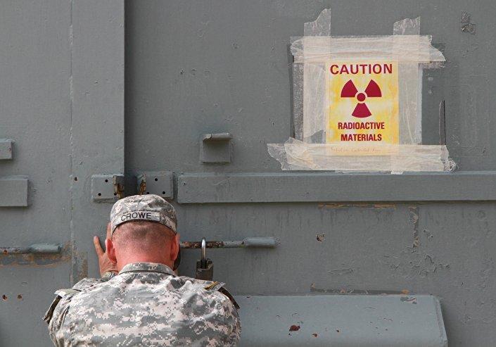 Militar americano fecha um bunker contaminado de radiação em Fort Bliss no Texas