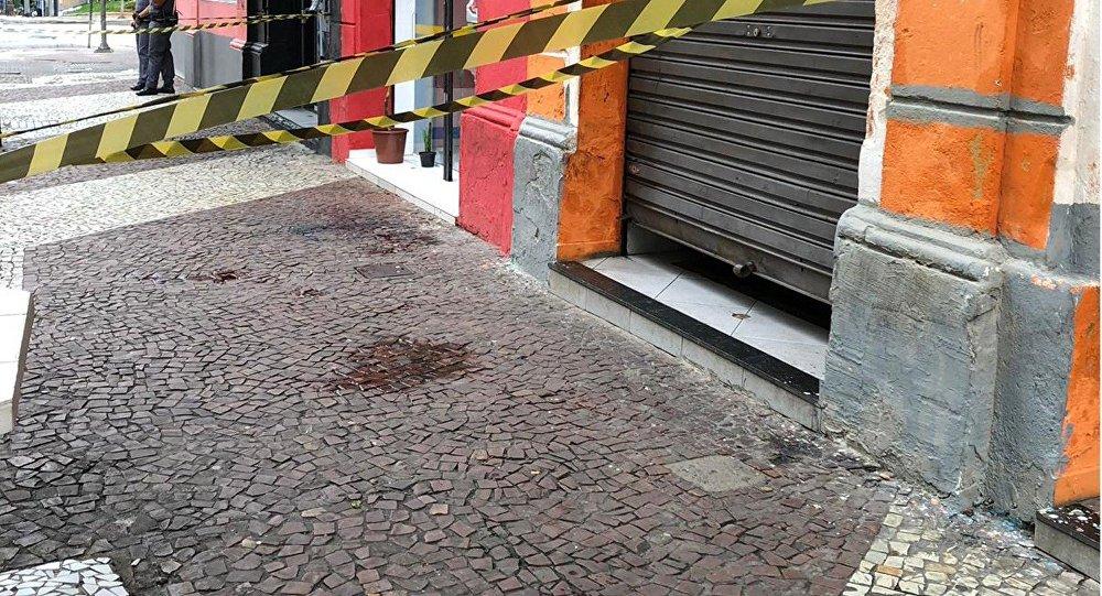 Local do crime em São Paulo.